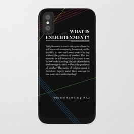 Philosophia I: What is Enlightenment? iPhone Case