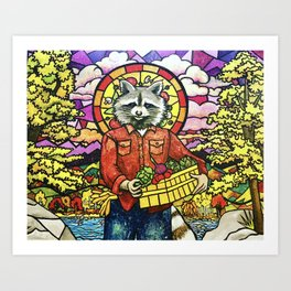 Pizza Saint of Fresh Art Print