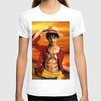 luffy T-shirts featuring Monkey D. Luffy real style by Shibuz4
