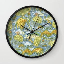 Tolkien Pattern - Plants Wall Clock