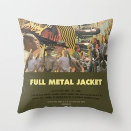 Full Metal Jacket - Stanley Kubrick Throw Pillow
