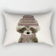 little indy raccoon Rectangular Pillow