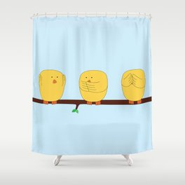 See no evil, Hear no evil, Speak no evil Shower Curtain