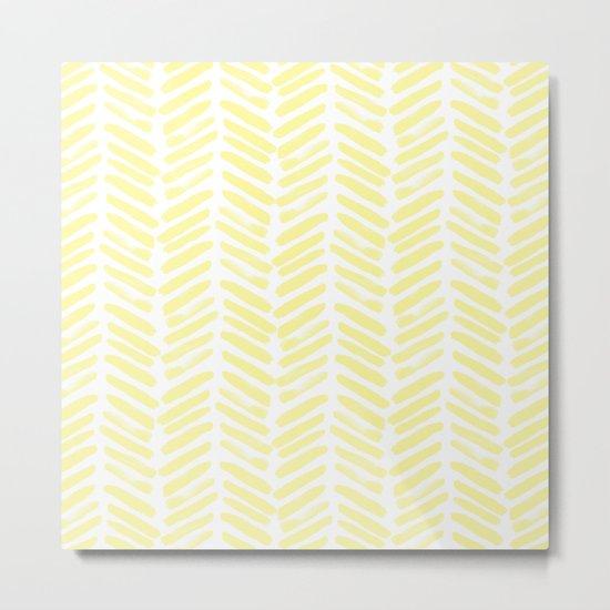 Handpainted Summer Sun Yellow Chevron pattern - Mix & Match with Simplicity of Life Metal Print