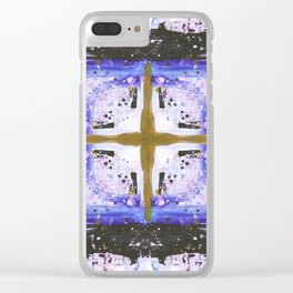 Explosive grid Clear iPhone Case