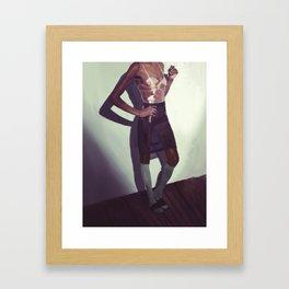Woman in Knee Socks Framed Art Print