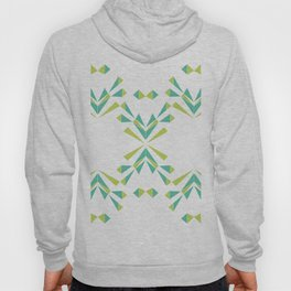 Green Lattice, green leaves Hoody