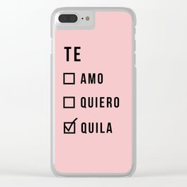 Te amo funny text Clear iPhone Case