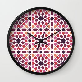 Arabic tiles A7 Wall Clock