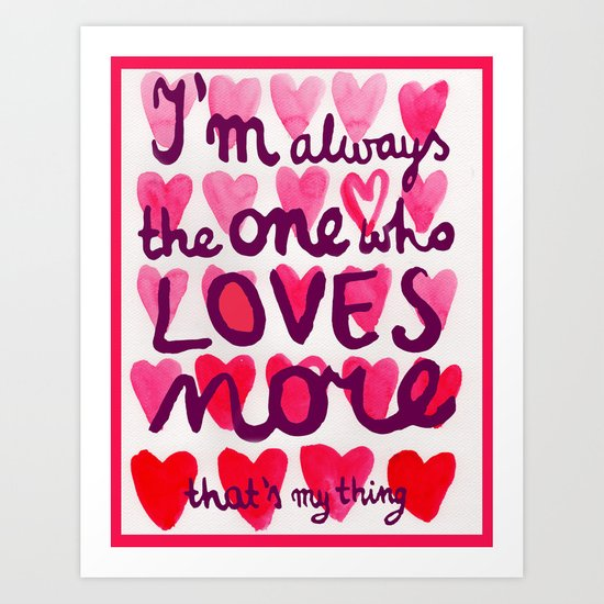 i'm always Art Print