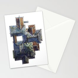 Taiwanese roofscapes 01(colored) Stationery Cards