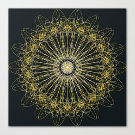Gold Lines Canvas Print