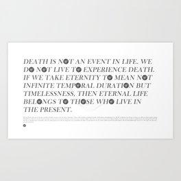 Wittgenstein II Art Print