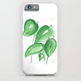 Green leafs iPhone Case