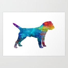 Border Terrier in watercolor Art Print