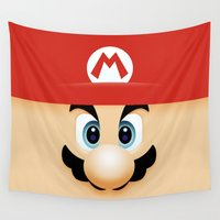 super mario Wall Tapestries featuring SUPER MARIO BROSS by Sophie