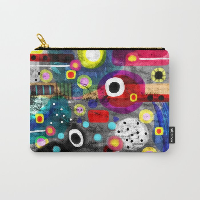 Abstract Grungy Distressed Art Dark Polka Dots Carry-All Pouch