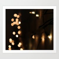 bokeh Art Prints featuring Bokeh by Ellie Rose Flynn