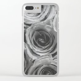 Textured Floral Clear iPhone Case