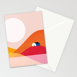 Abstraction_Mountains_Simple_House_Minimalism Stationery Cards