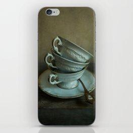 White teacups set iPhone Skin