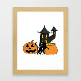 Witchcraft Starter Kit Cat Witch Funny design For Halloween Framed Art Print