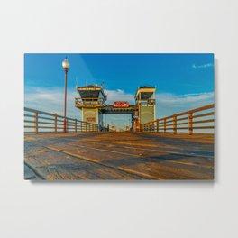 On Oceanside Pier Metal Print