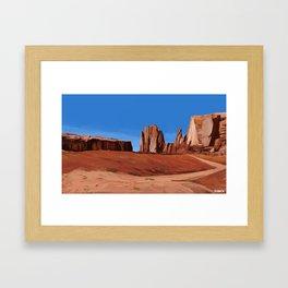 Desert Landscape Framed Art Print