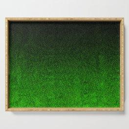 Green & Black Glitter Gradient Serving Tray