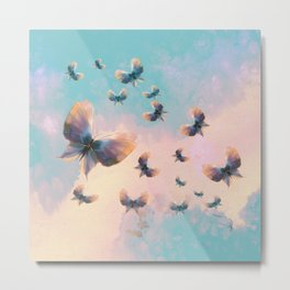 Happiness is a butterfly Metal Print
