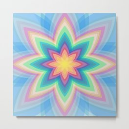 Rainbow Flower Metal Print