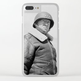 General George Patton Clear iPhone Case