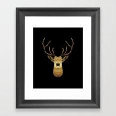 Polygon Heroes - The Deer Framed Art Print