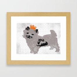 Cairn Terrier Dog Framed Art Print