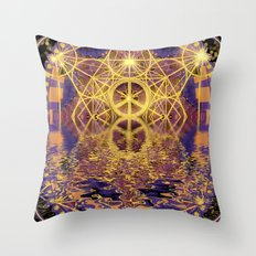Geometry Peace Reflections Throw Pillow