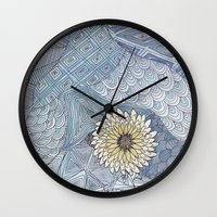 daisy Wall Clocks featuring Daisy by sinonelineman