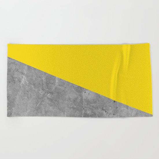 Geometry 101 Vivid Yellow Beach Towel