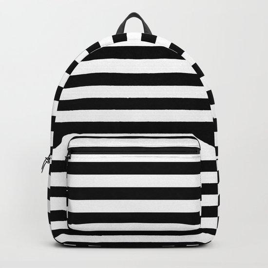 Black White Stripes Backpack