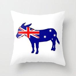 Australian Flag - Donkey Throw Pillow