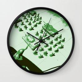 GREEN BATTALLION ON THE MARCH Wall Clock