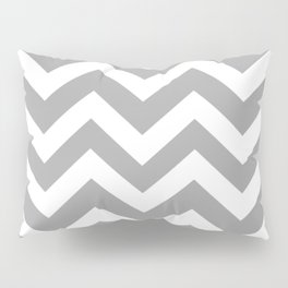 Quick Silver - grey color - Zigzag Chevron Pattern Pillow Sham