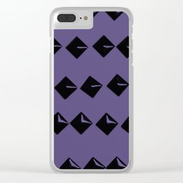 Black Square Rivets on Ultra Violet #1 #decor #art #society6 Clear iPhone Case
