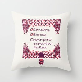 Red Trainer Tips Throw Pillow