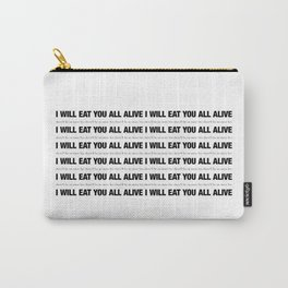 There'll Be No More Lies (white) Carry-All Pouch