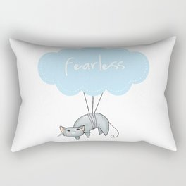 Fearless Cat Rectangular Pillow