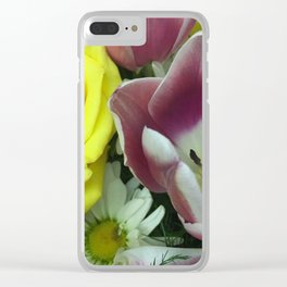 Sunset Gardens Clear iPhone Case