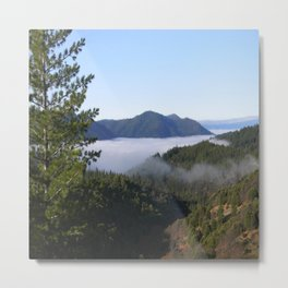 Misting fog in the mountains... Metal Print