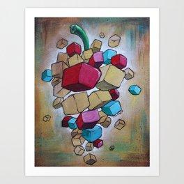Cubist Grapes V2 Art Print
