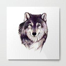 Wolfe Smile Metal Print