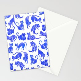 Cat Positions – Blue Palette Stationery Cards